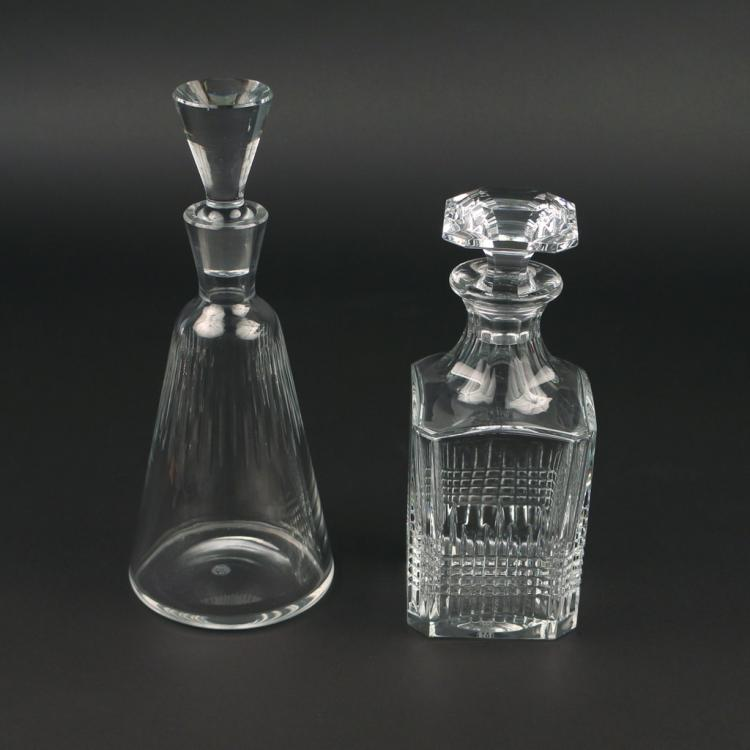 (2pc) BACCARAT CRYSTAL DECANTERS
