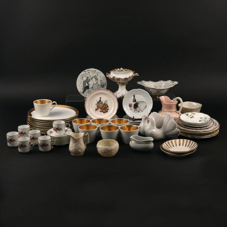 LARGE LOT MISC PORCELAIN AND OTHER