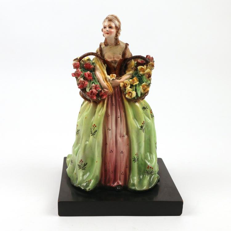 LARGE CERAMIC FIGURE OF A WOMAN