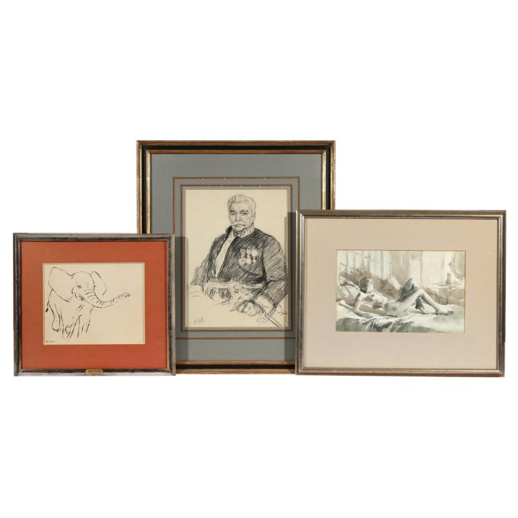 (3pc) FRENCH DRAWINGS