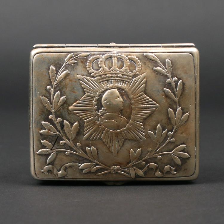 EARLY COMMEMORATIVE SILVER BOX