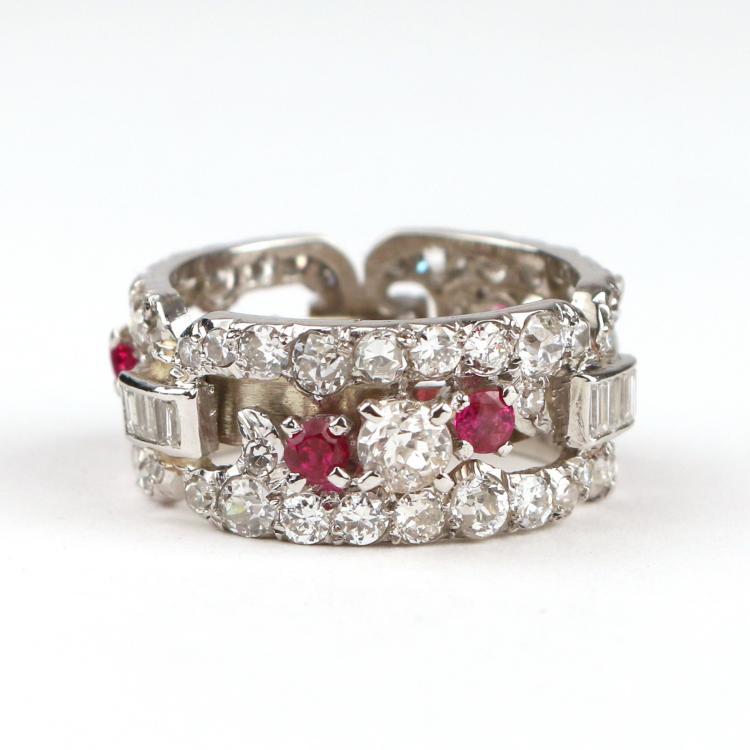 DIAMOND & PINK SAPPHIRE ETERNITY BAND