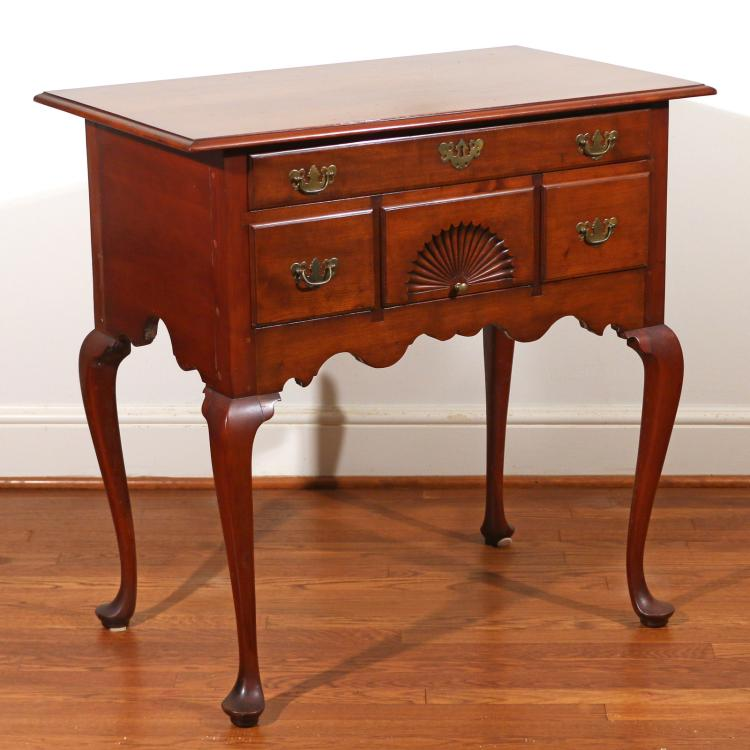 NEW ENGLAND QUEEN ANNE CHERRY LOWBOY