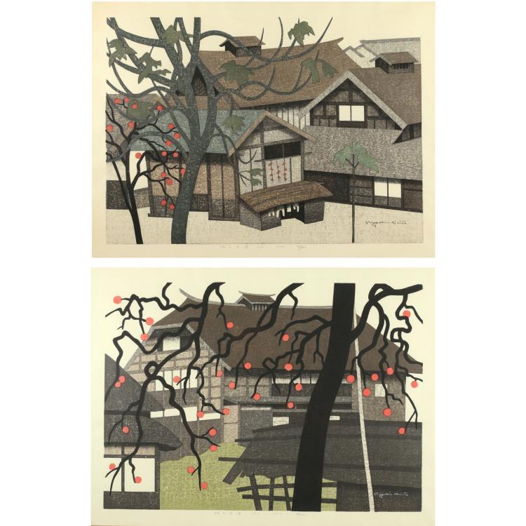 (2pc) KIYOSHI SAITO (Japanese, 1907-1997)