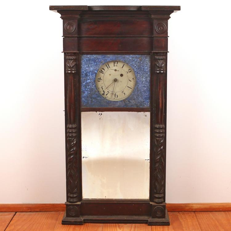 ASA MUNGER MAHOGANY SHELF CLOCK