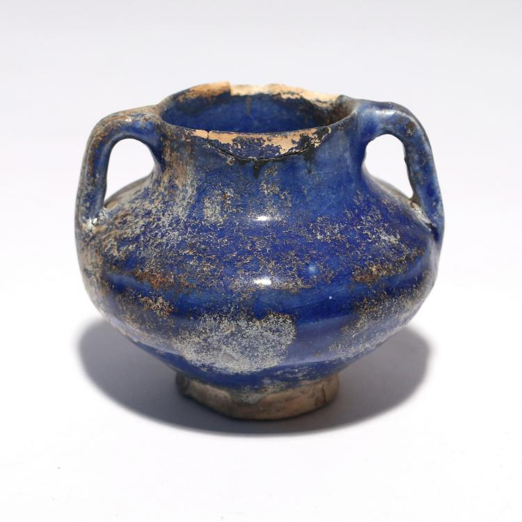 PERSIAN GLAZED EARTHENWARE JAR