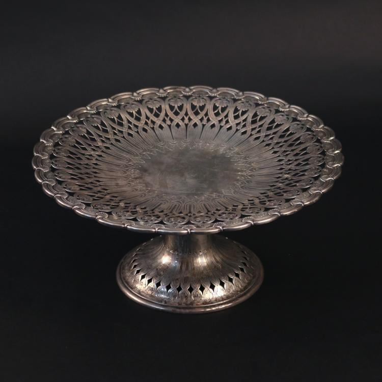 TIFFANY & CO. STERLING SILVER TAZZA