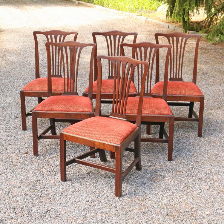 (6pc) GEORGE III MAHOGANY DINING CHAIRS