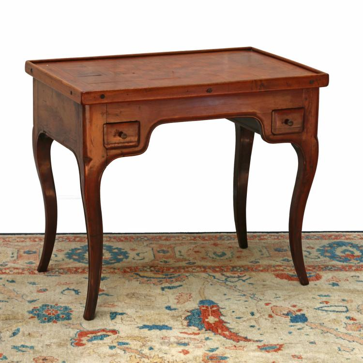 LOUIS XV PARQUETRY TRIC-TRAC TABLE