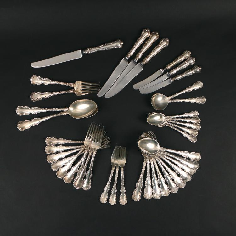 (40pc) BIRKS STERLING PARTIAL FLATWARE SERVICE