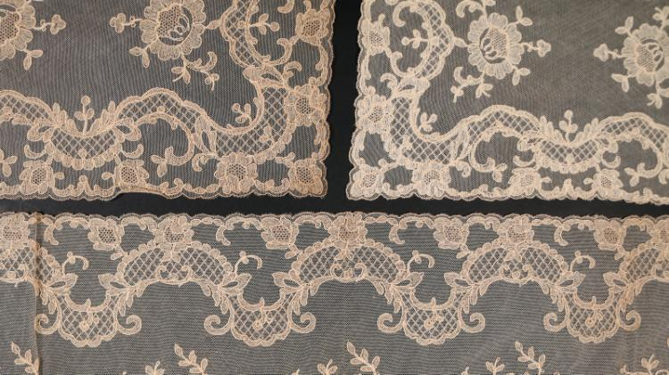 FINE LOT OF ANTIQUE LACE & OTHER