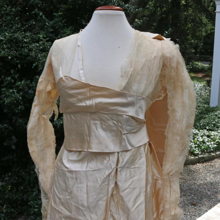 EDWARDIAN SATIN WEDDING DRESS