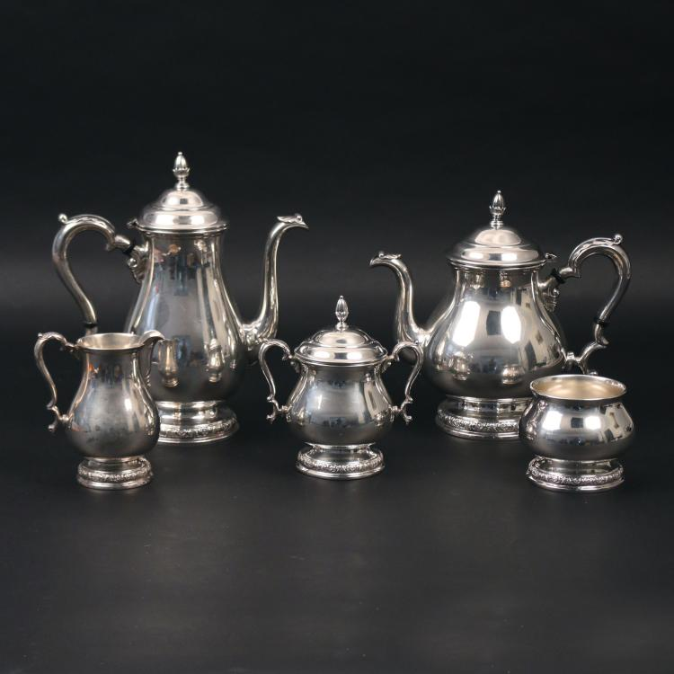 (5pc) STERLING SILVER TEA & COFFEE SERVICE