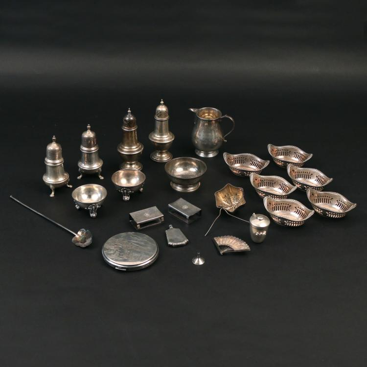 (22pc) STERLING SILVER HOLLOWARE