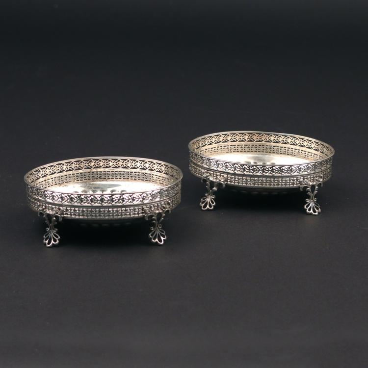 PAIR GORHAM STERLING SILVER SWEET MEATS