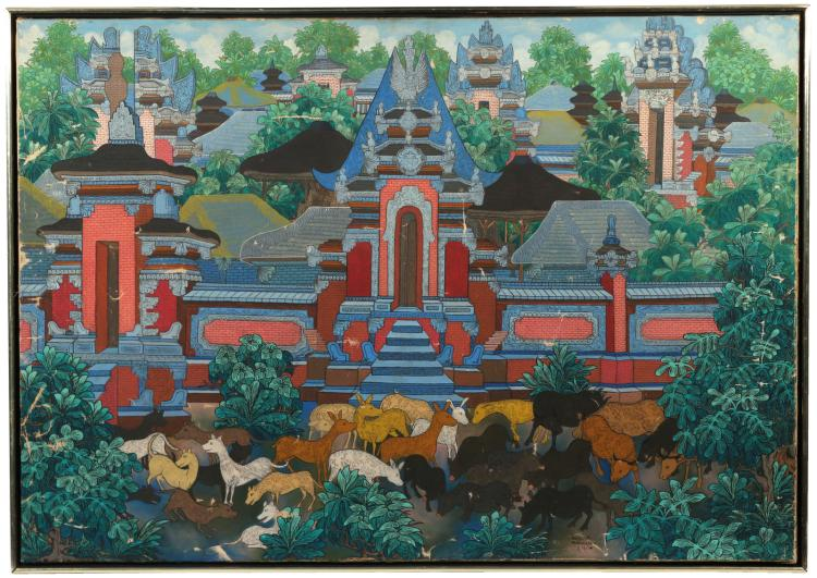 BALI TEMPLE PAINTING