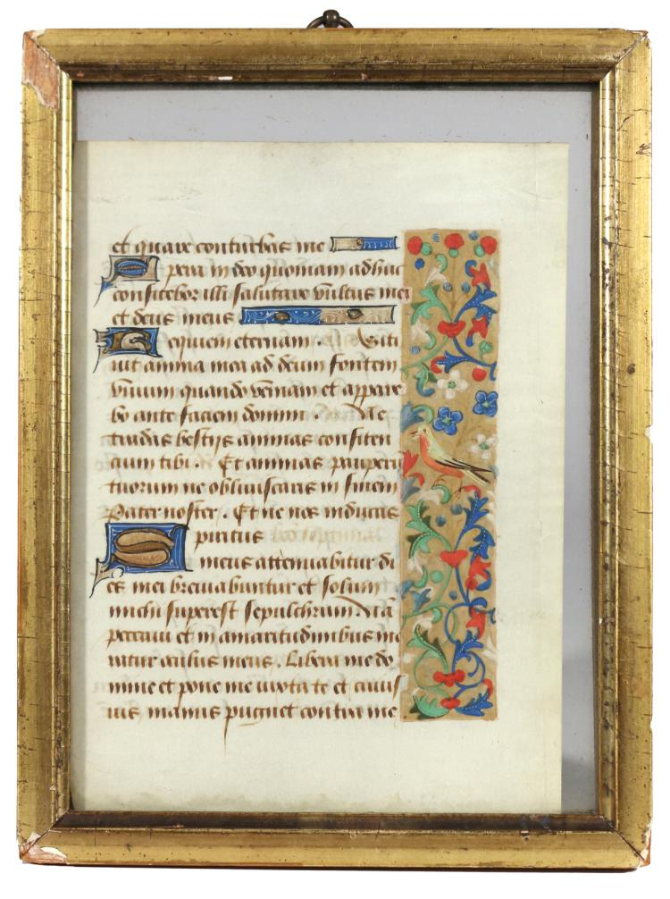 ILLUMINATED MANUSCRIPT PAGE