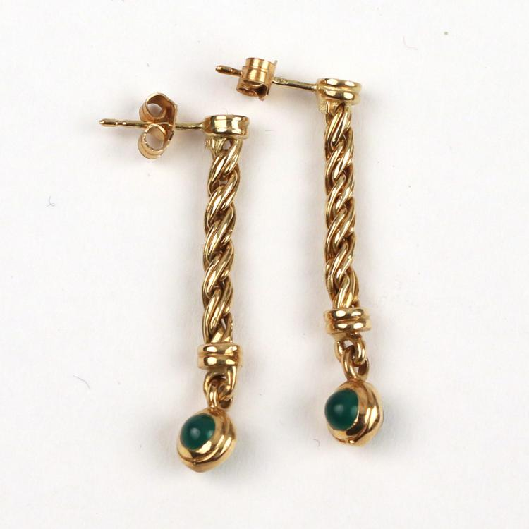 PAIR GOLD EARRINGS