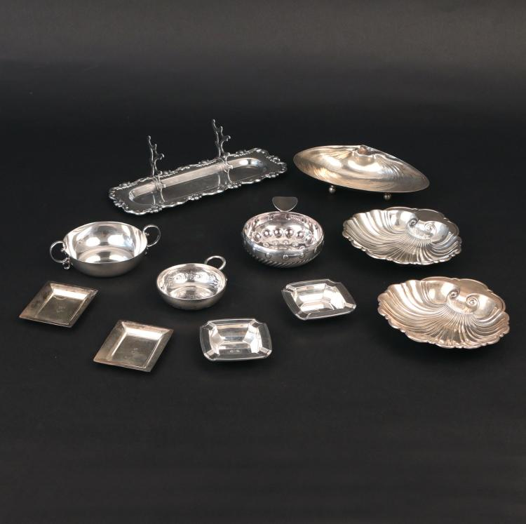 (11pc) MISC. STERLING SILVER & SILVER-PLATE