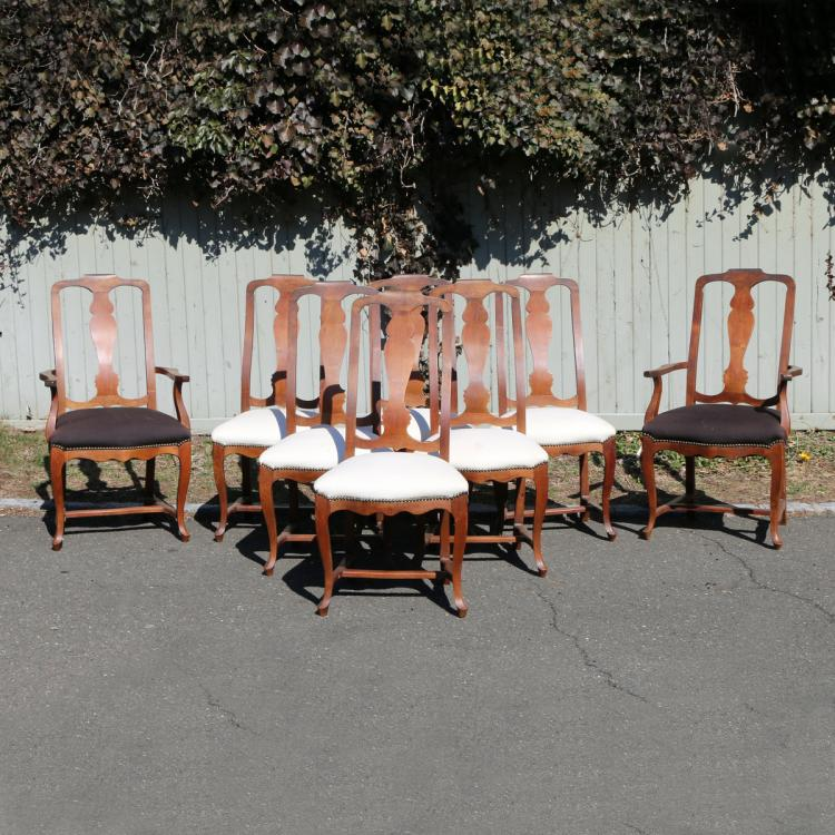 (8pc) QUEEN ANNE STYLE SIDE CHAIRS