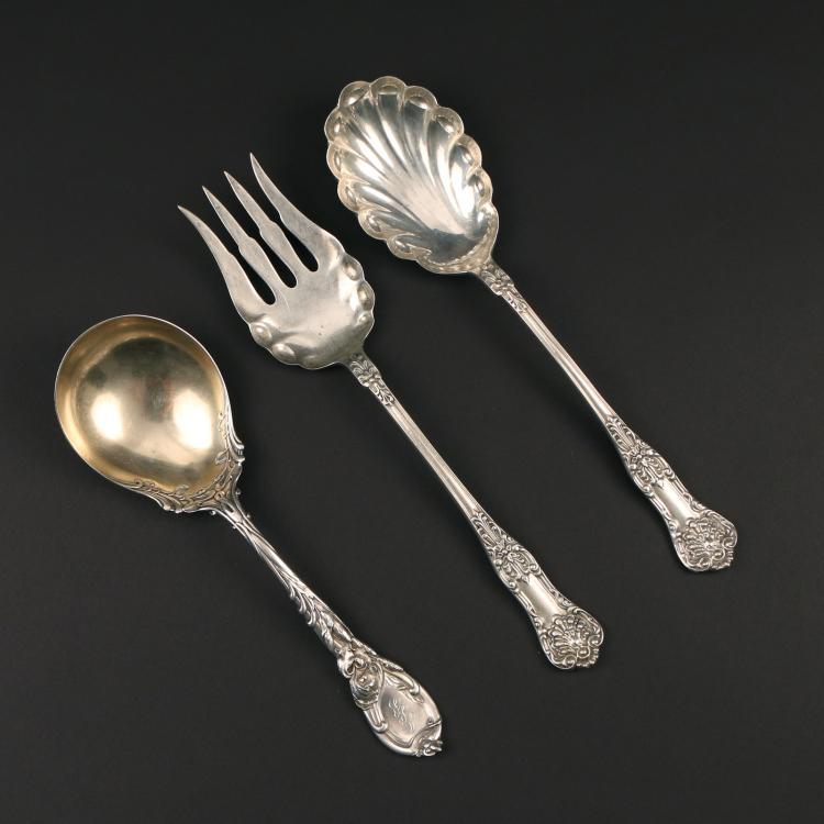 (3pc) ATTRIB. DOMINICK & HAFF SERVING UTENSILS