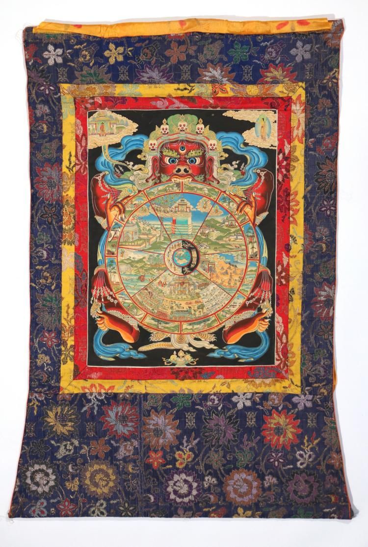(2pc) TIBETAN THANKAS