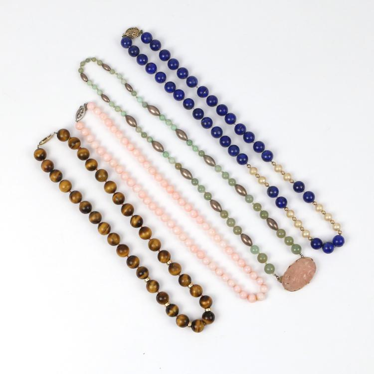 (4pc) GEMSTONE NECKLACES