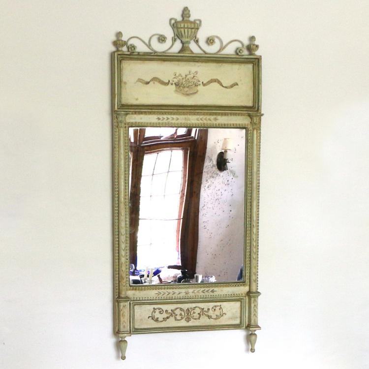 LOUIS XVI-STYLE PAINTED WALL MIRROR