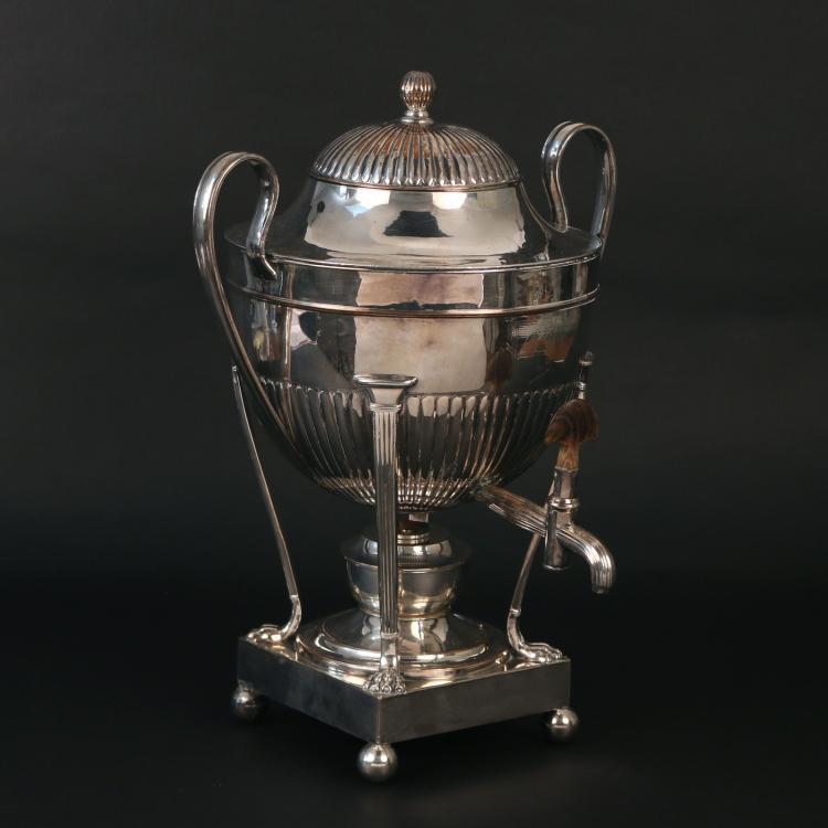 SHEFFIELD SILVER-PLATED TEA URN