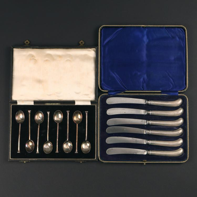 (2pc) BOXED SILVER FLATWARE SETS