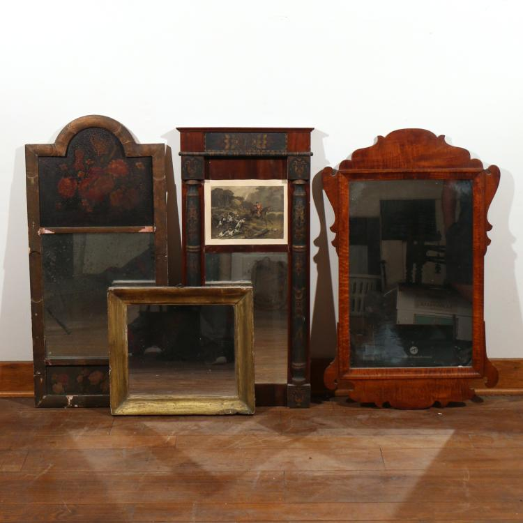 (4pc) MISC. ANTIQUE WALL MIRRORS