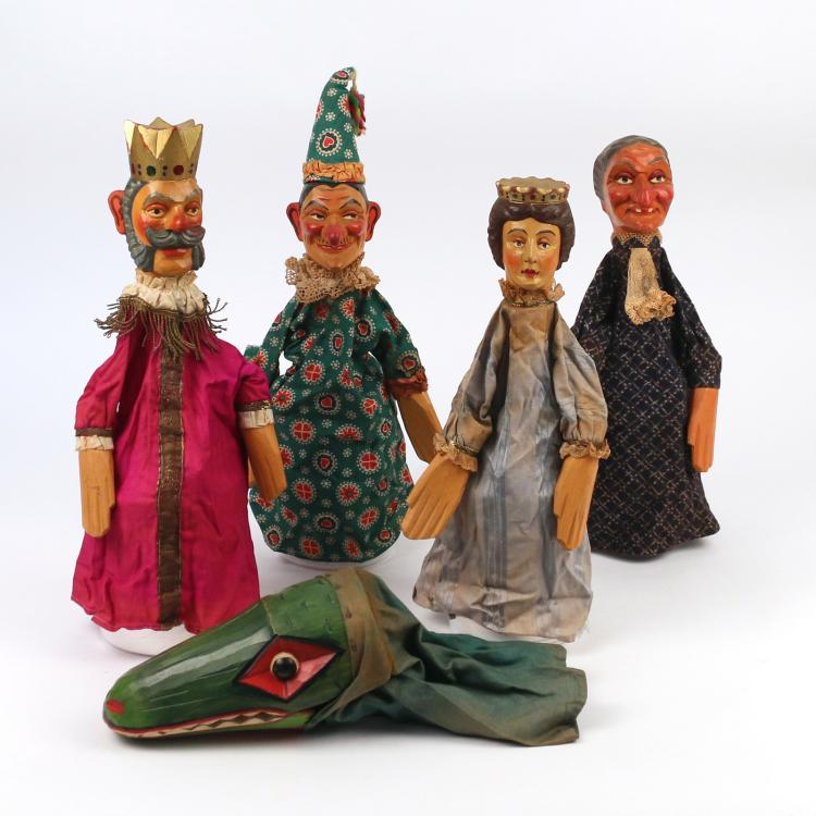 (5pc) GERMAN KASPERLE THEATER FIGURES