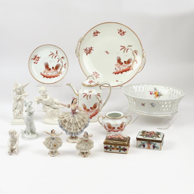 (14pc) MISC. PORCELAIN