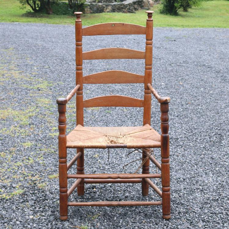 LADDER-BACK ARMCHAIR