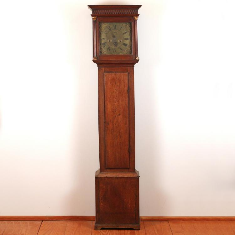 JOHN WRIGHT NEW YORK QUEEN ANNE TALL CASE CLOCK