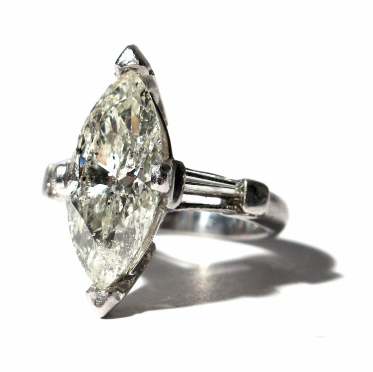 6.30ct MARQUISE DIAMOND ENGAGEMENT RING