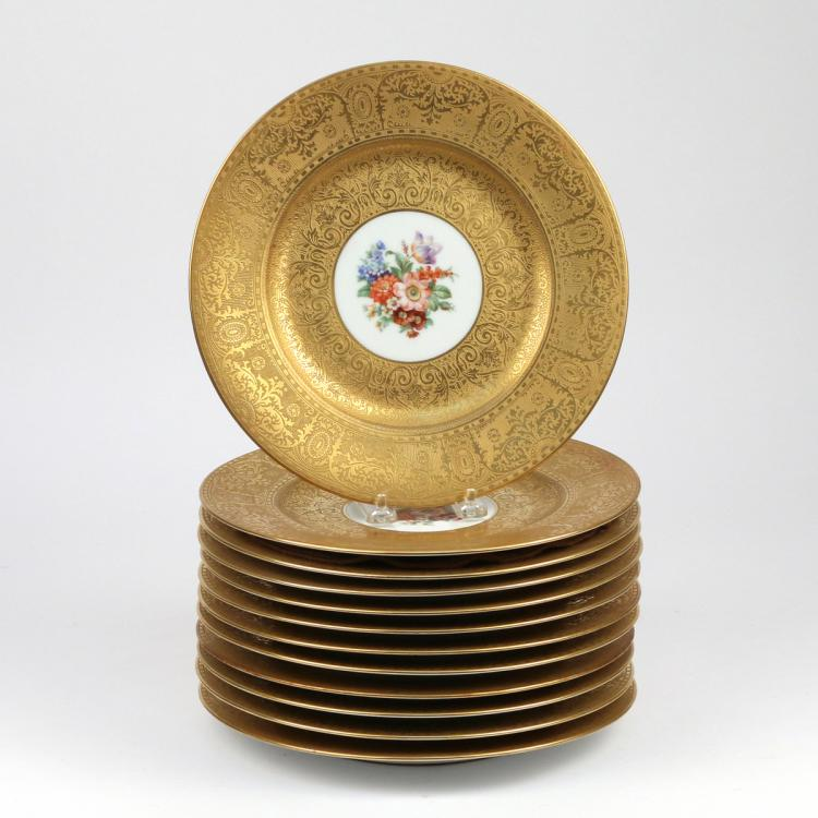 (12pc) ROYAL BAVARIAN SERVICE PLATES