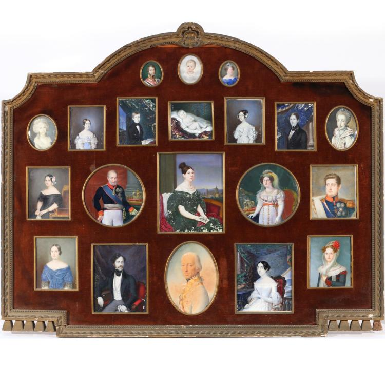 (20pc) FAMILIAL PORTRAIT MINIATURE COLLECTION