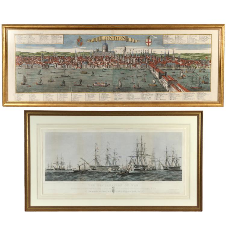 (2pc) ENGLISH PANORAMIC PRINTS