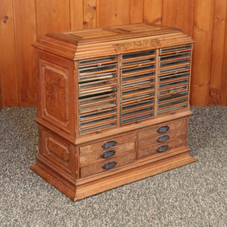 WALNUT SPOOL CABINET