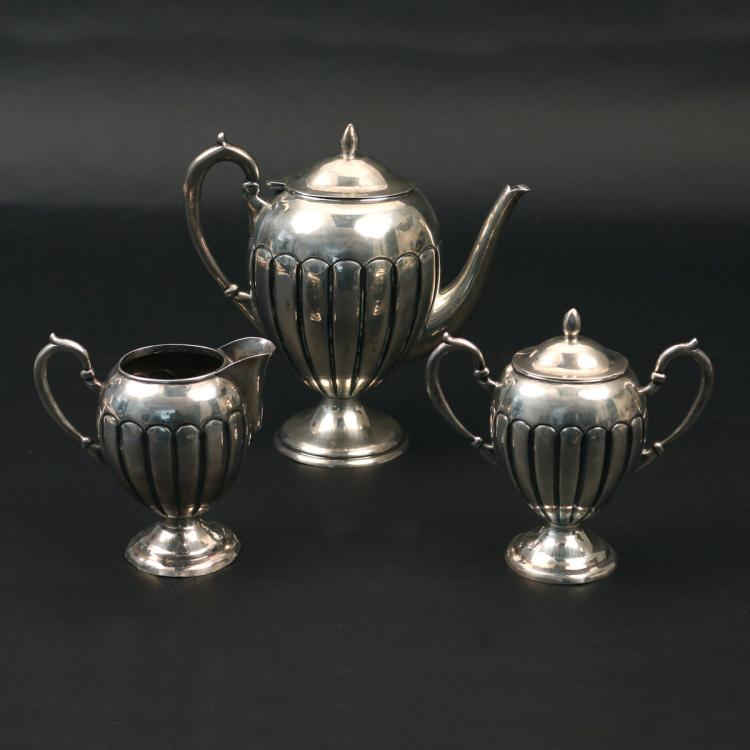 (3pc) STERLING SILVER TEA SERVICE