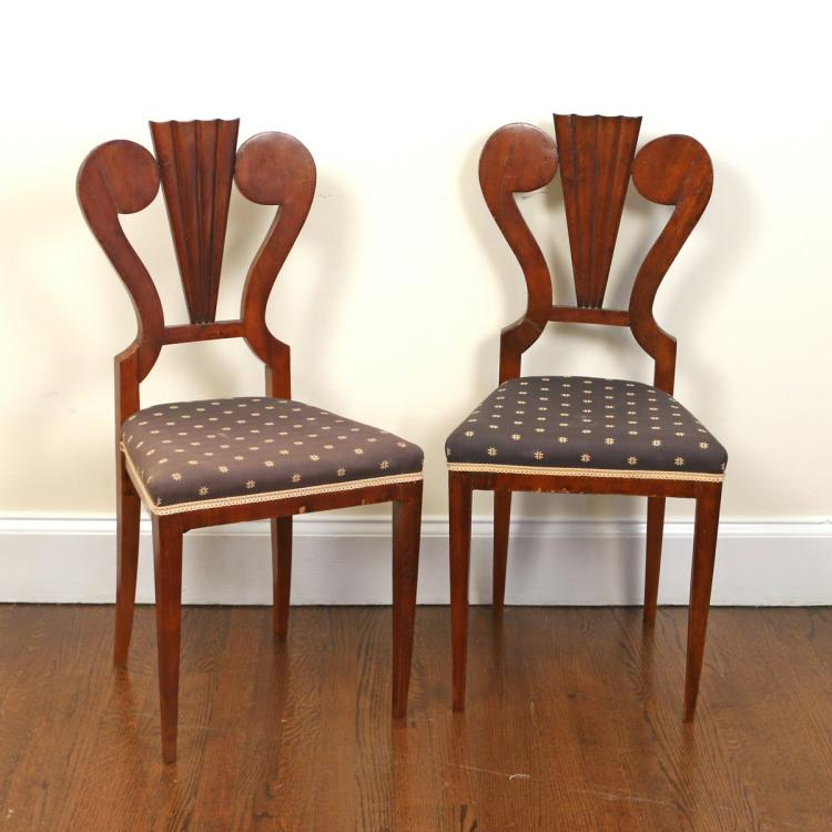 PAIR ART DECO SIDE CHAIRS