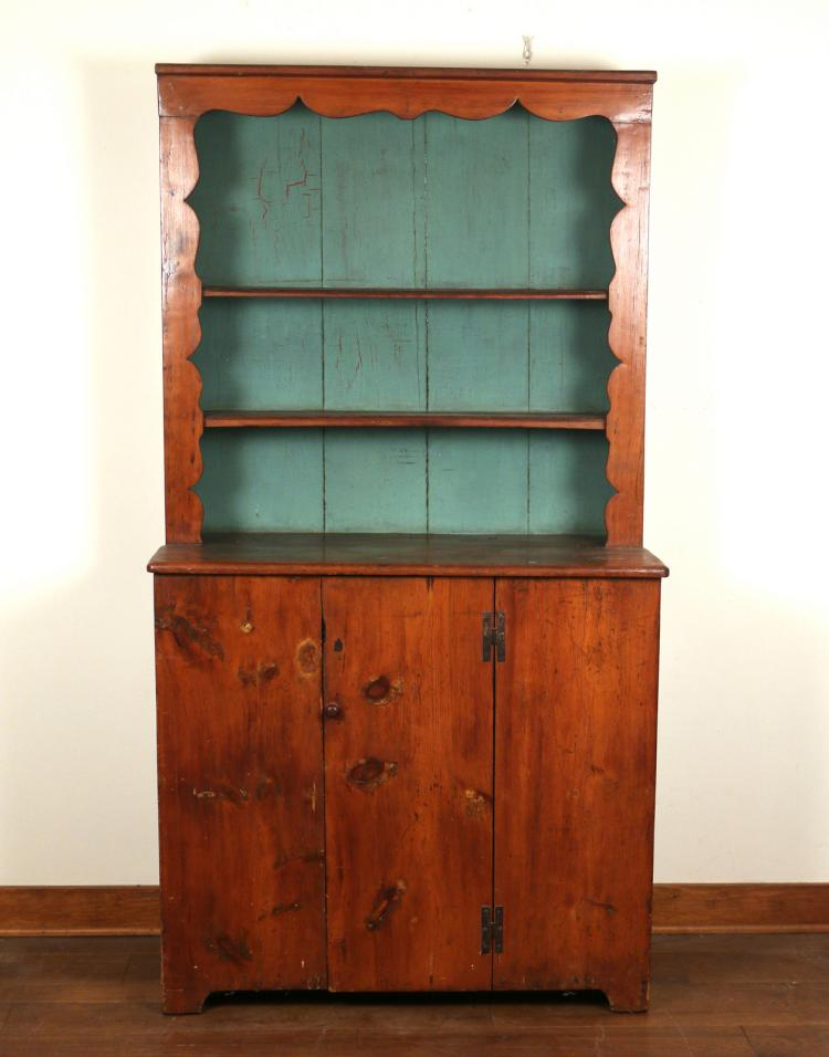 COUNTRY PINE STEP-BACK CUPBOARD