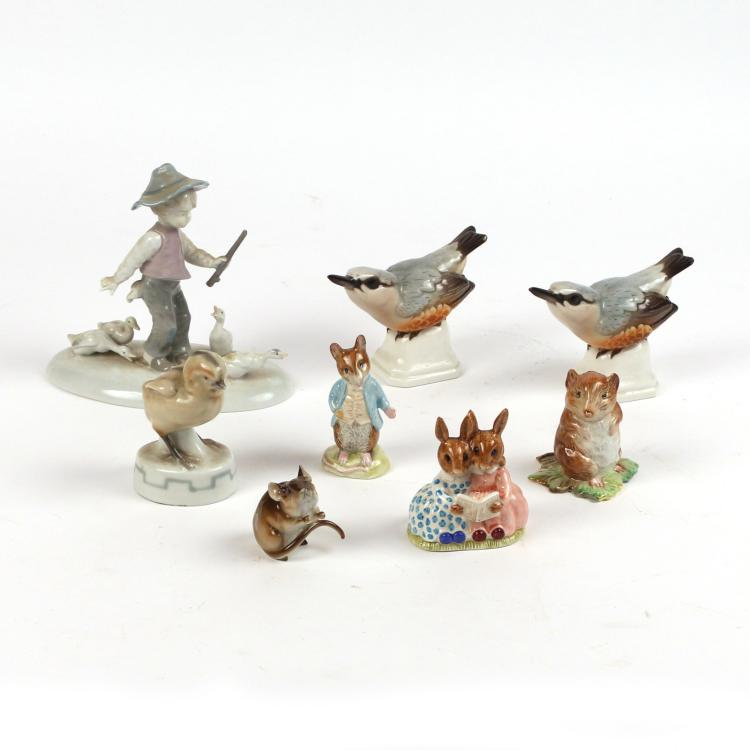 (8pc) MISC. PORCELAIN FIGURES