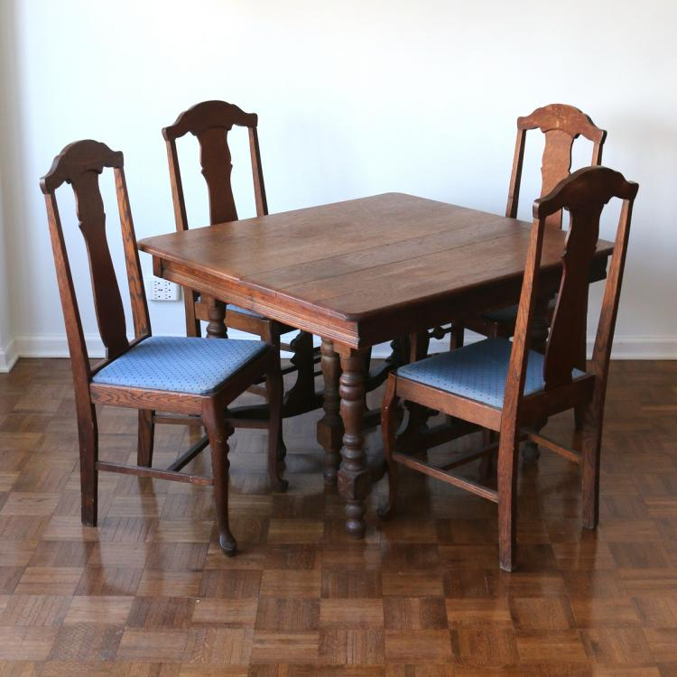 (5pc) OAK ARTS & CRAFTS DINETTE SET