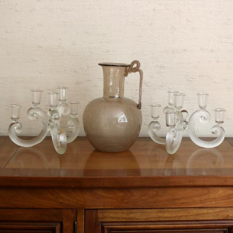 (3pc) VENETIAN GLASS