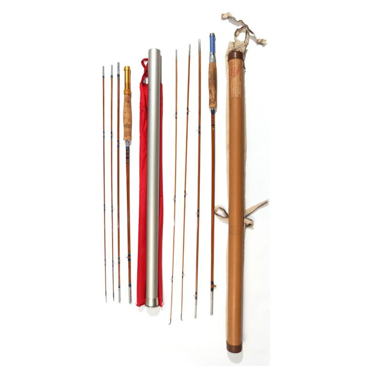 4pc orvis bamboo fly fishing rods for Bamboo fishing pole