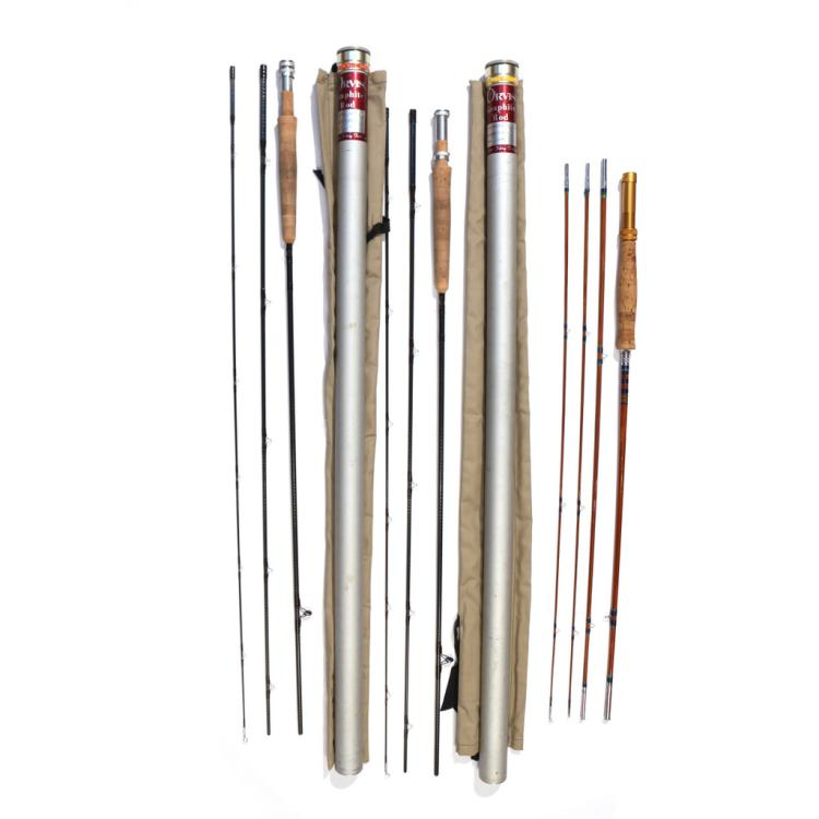 4pc orvis bamboo fly fishing rods for Bamboo fishing poles