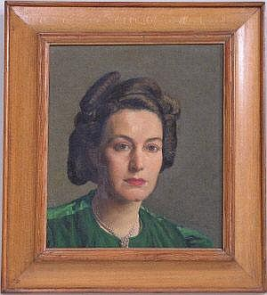 E L Tafani (20th Century), Portrait of a woman in