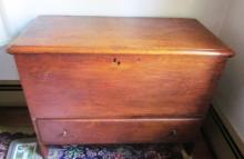 19th c 1 Drawer Blanket Chest